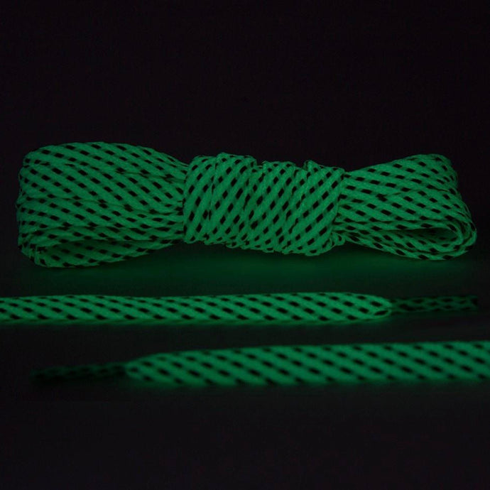 Glow In The Dark Reflective Flat Laces