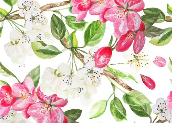 Apple Blossom Decoupage Poster