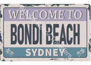Welcome to Bondi Beach Decoupage Photographic Print