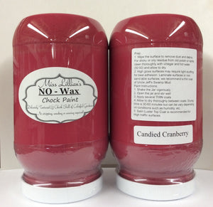 Candied Cranberry No Wax Chock Paint