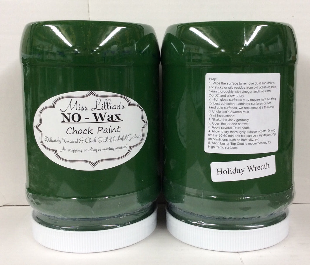 Holiday Wreath Chock Paint