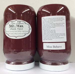 Miss Behave No Wax Chock Paint