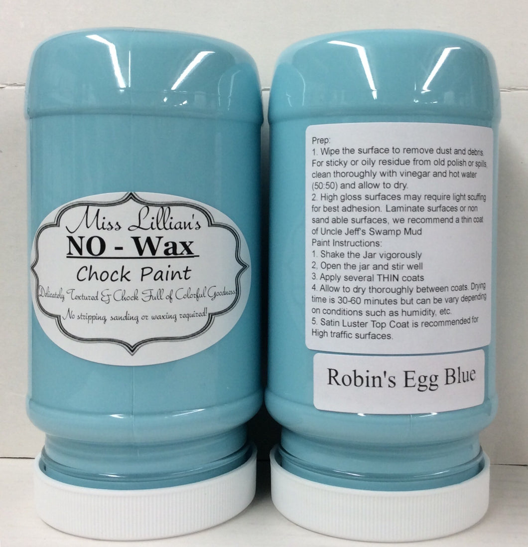 Robin's Egg Blue No Wax Chock Paint 16oz