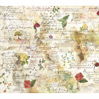 Stamperia Rice Paper Decoupage Napkin-Flowers & Poems