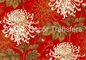 Japanese Chrysanthemum Decoupage Poster