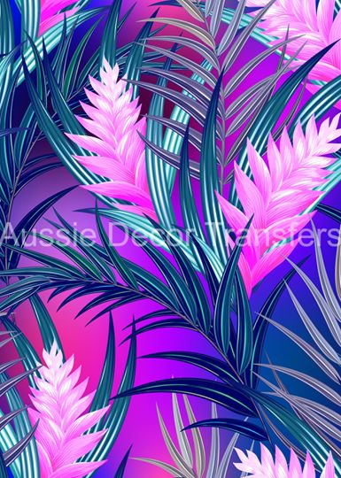 Pink Heliconias Decoupage Poster