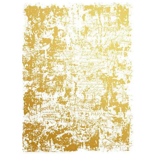 Gilded Distressed Wall Transfer