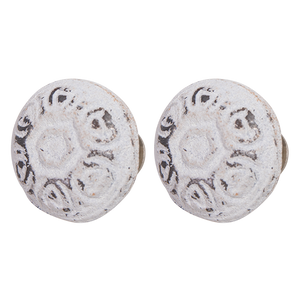 Metal Knob-MDK7554-Antique White
