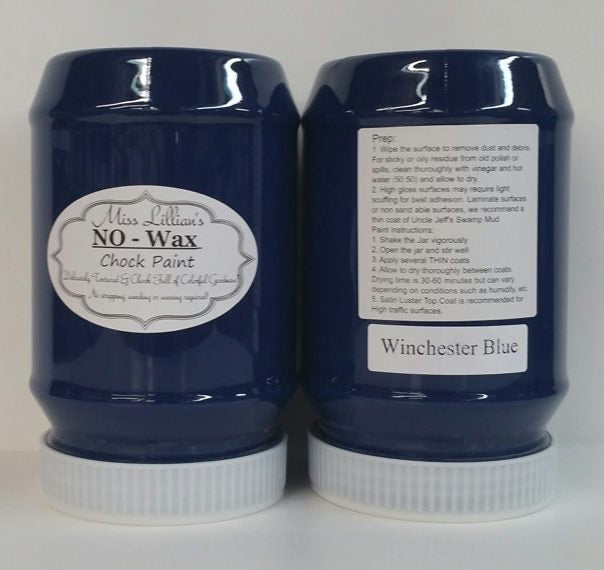 Winchester Blue No Wax Chock Paint