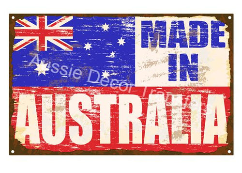 Made in Australia Decoupage Poster