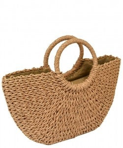Straw Purse - Bellamie Boutique