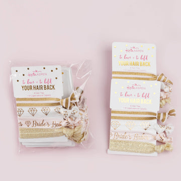 To Have & To Hold Your Hair Back Bridal Party Hair Ties