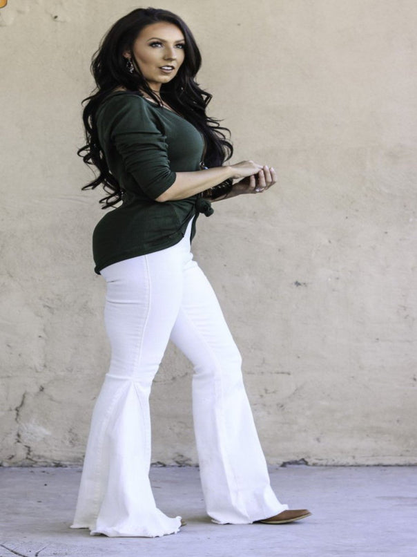 White Flares - Bellamie Boutique
