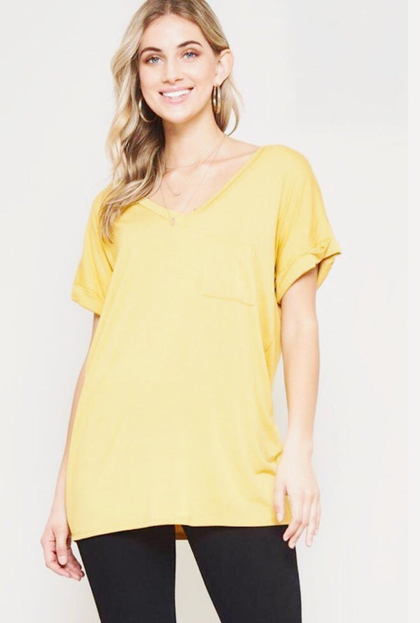 Boyfriend Tee-Yellow