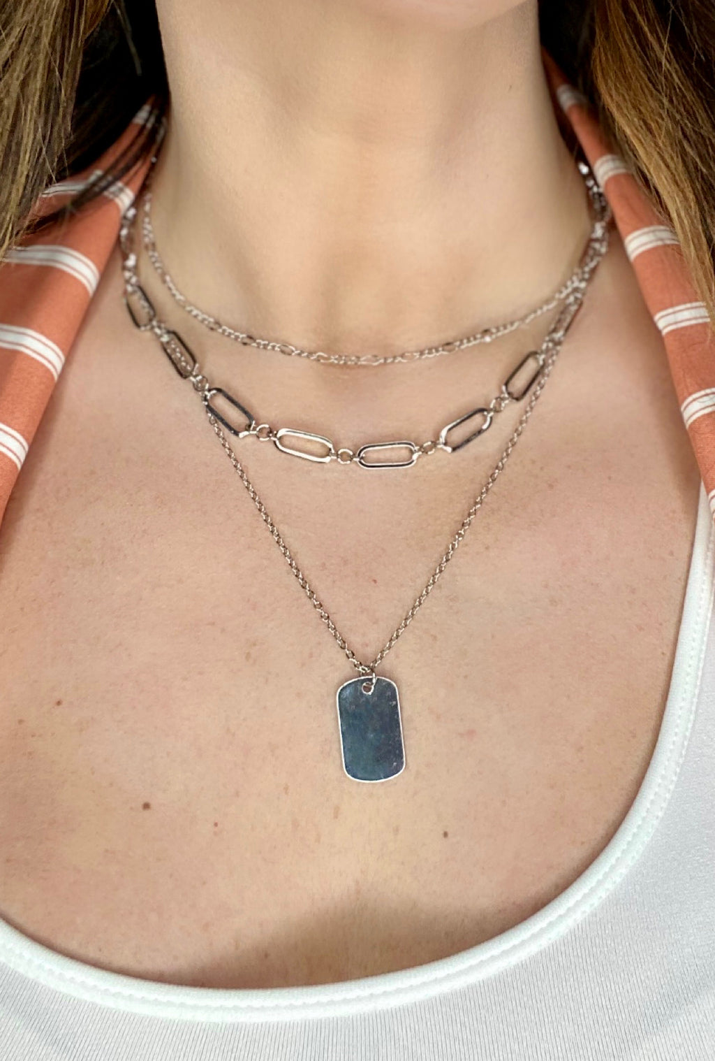 Layered Tag Necklace