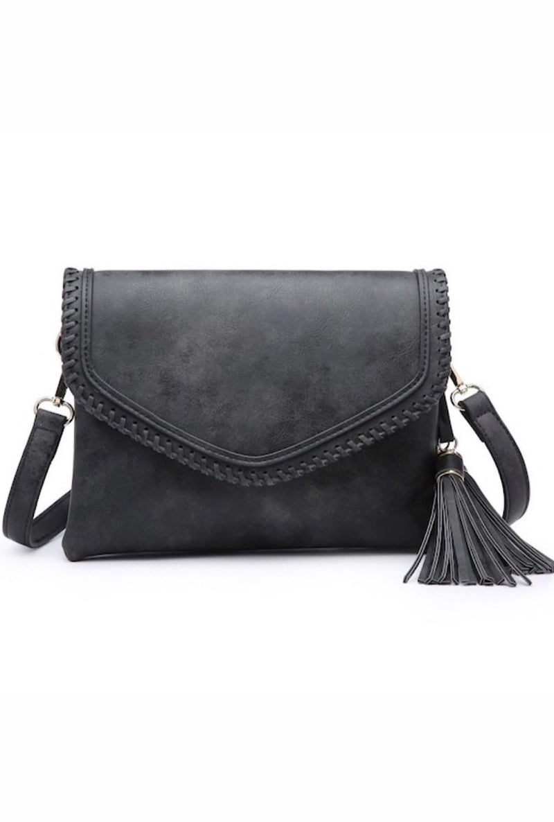 Stitch Trim Envelope Crossbody/Clutch