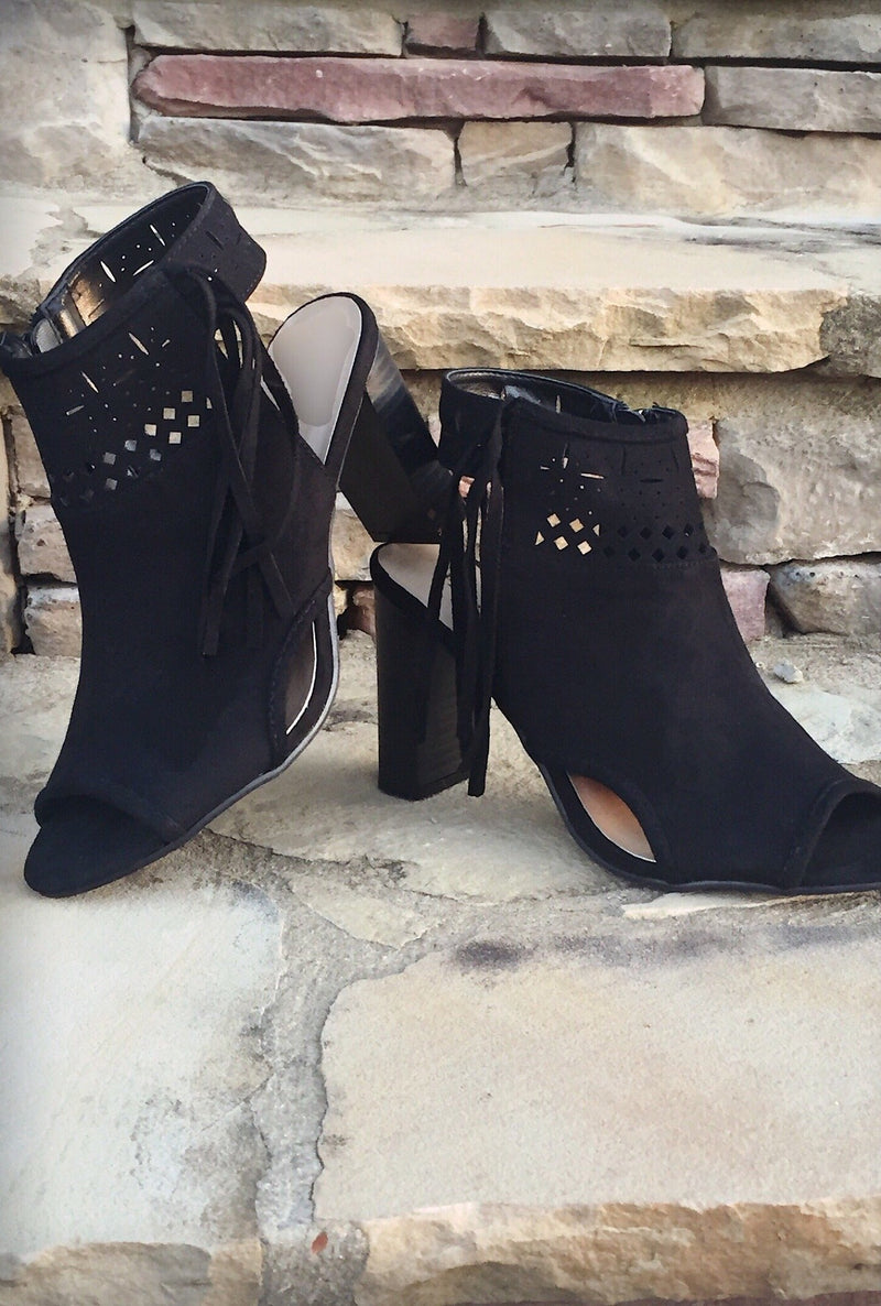 Outlaw Peep Toe - Bellamie Boutique