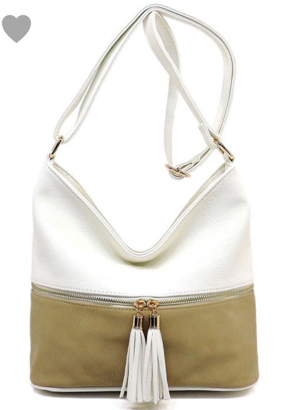 Taupe Color Block Purse - Bellamie Boutique