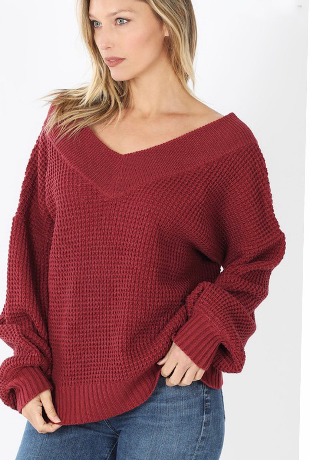 Waffle Sweater-multiple colors