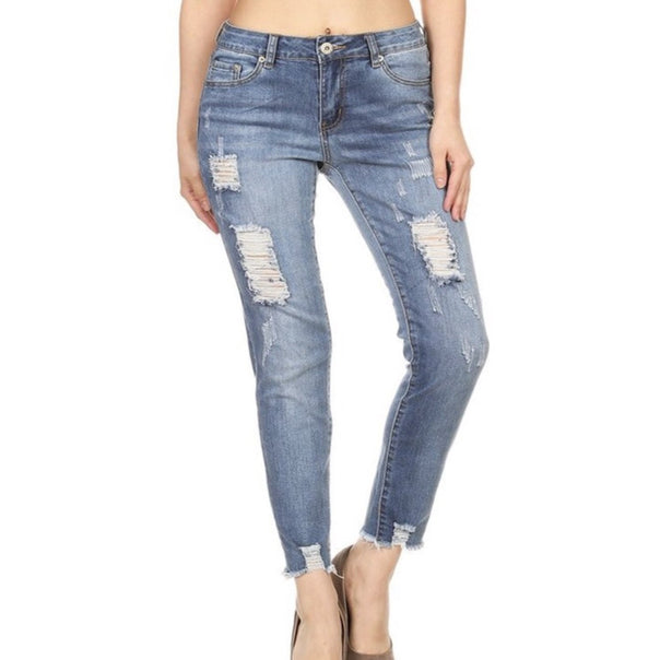 Distressed Skinny - Bellamie Boutique