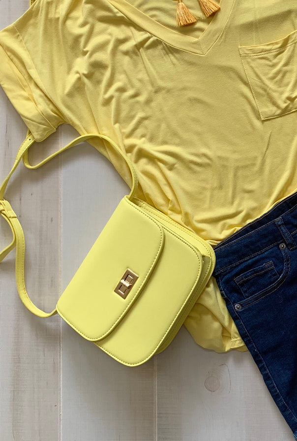 Small Yellow Crossbody - Bellamie Boutique