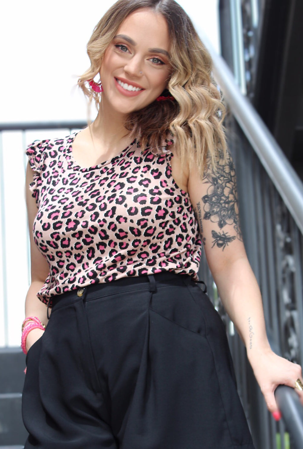 Gabby Leopard Top