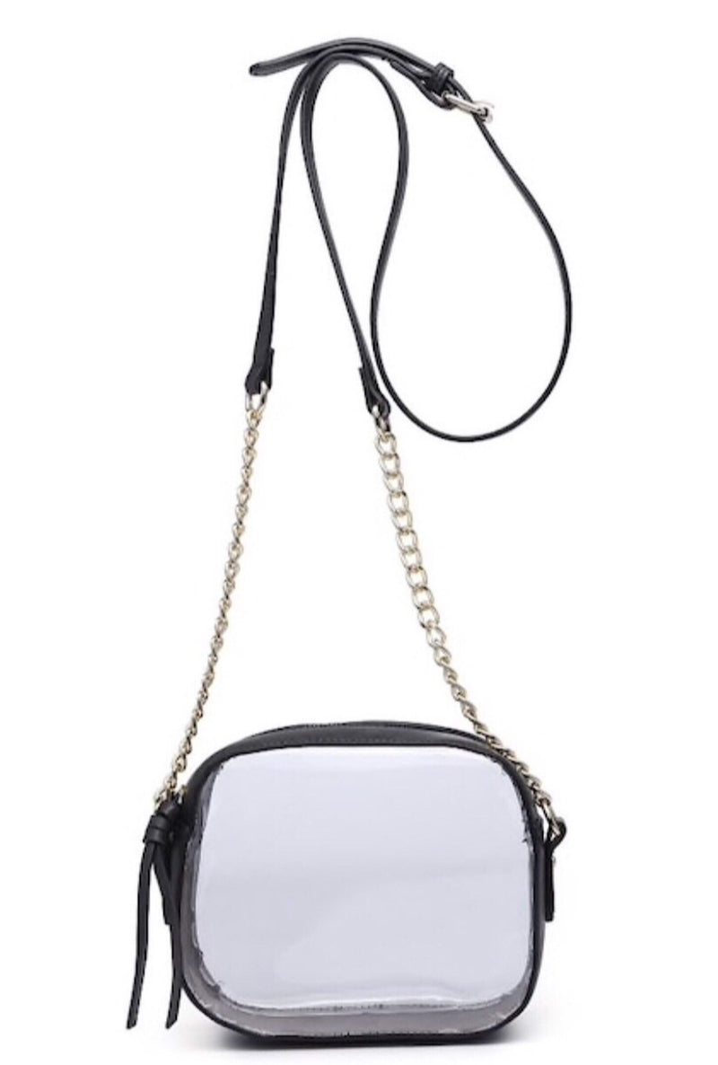 Black Clear Crossbody