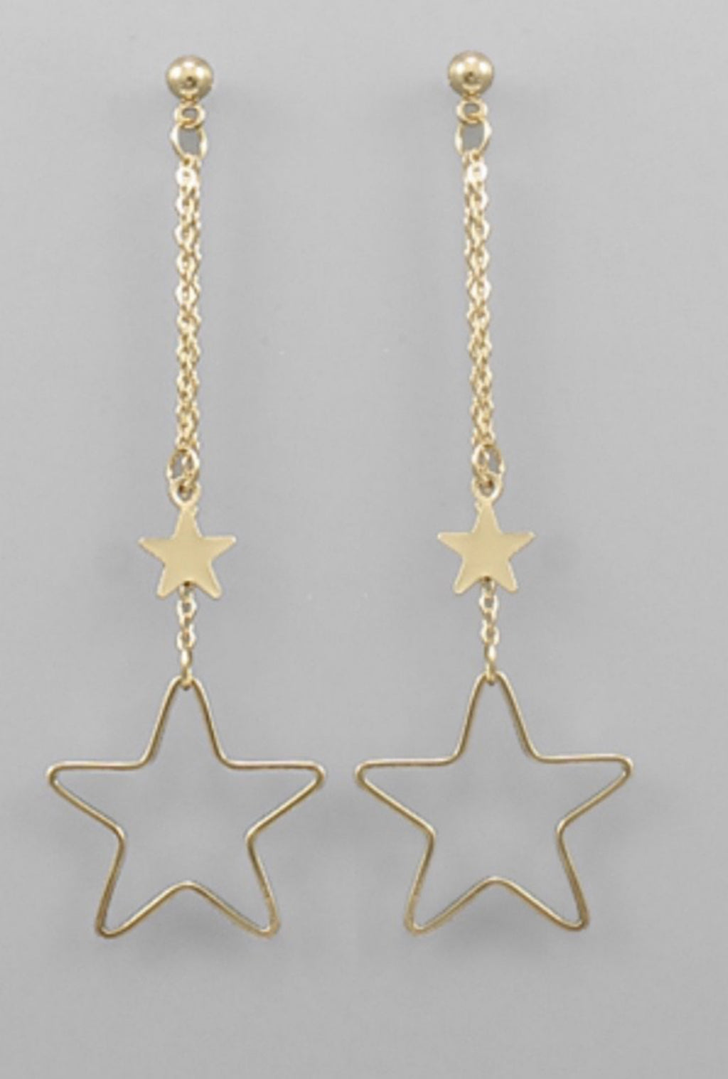 Gold Star Dangle Earrings - Bellamie Boutique