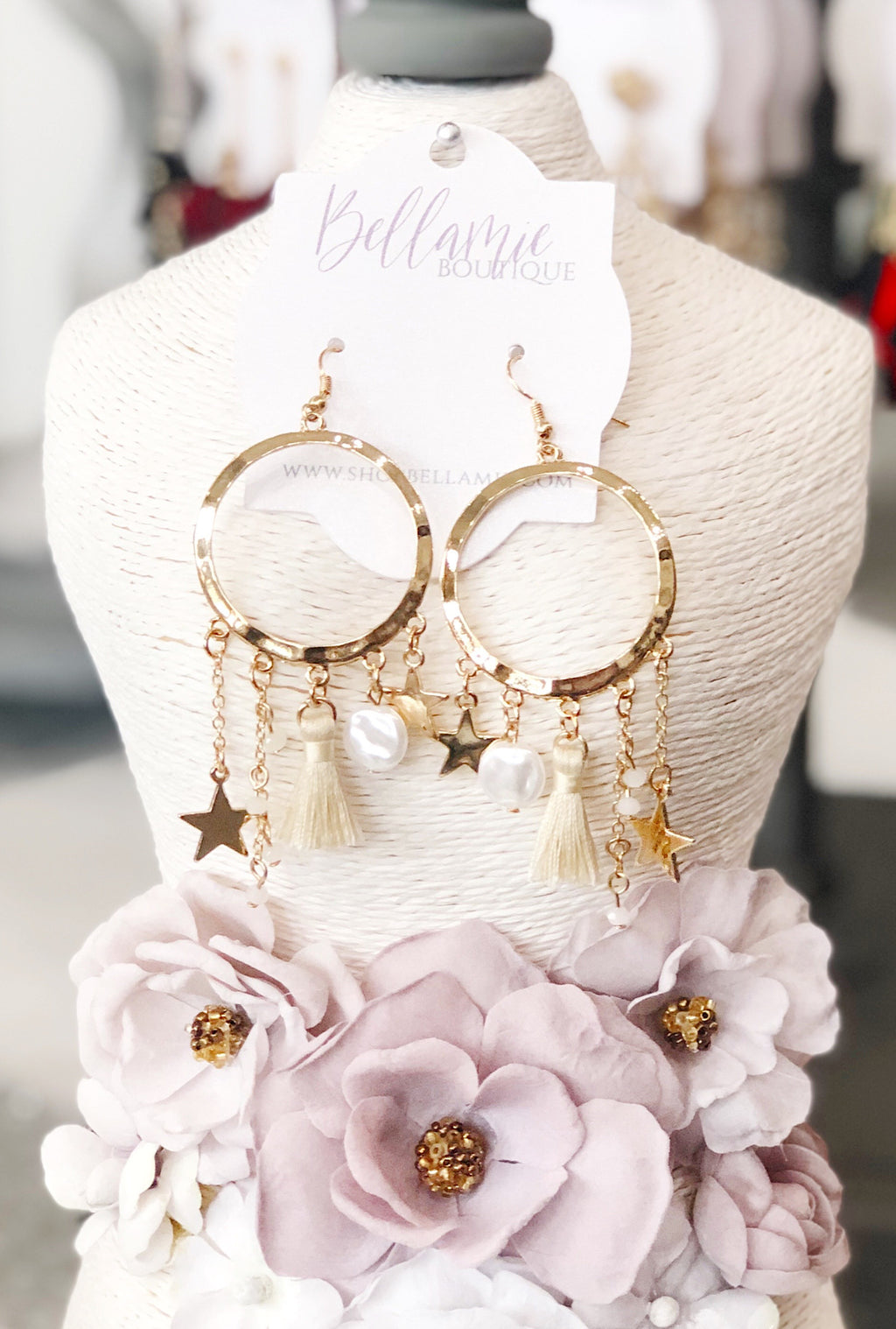 Cascading Star Earrings - Bellamie Boutique