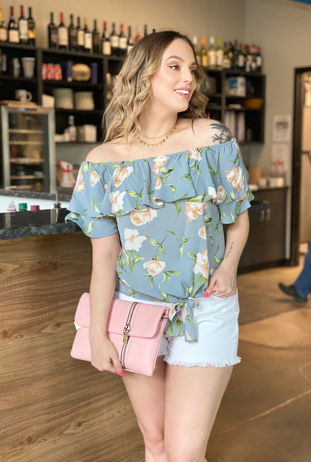 Sadie Floral Top - Bellamie Boutique