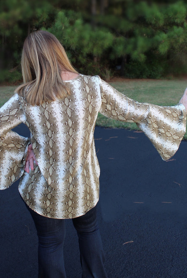 Olivia Snake Top - Bellamie Boutique