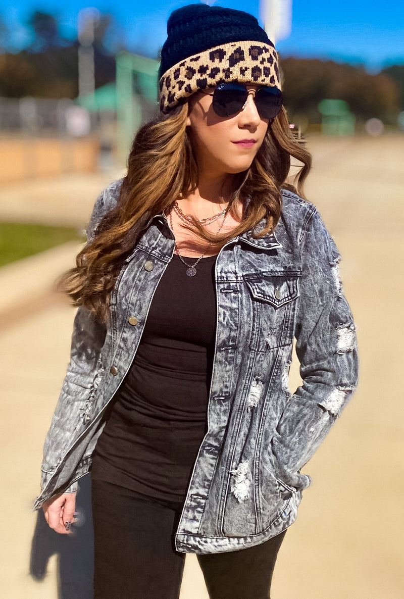 Claudia Charcoal Denim Jacket