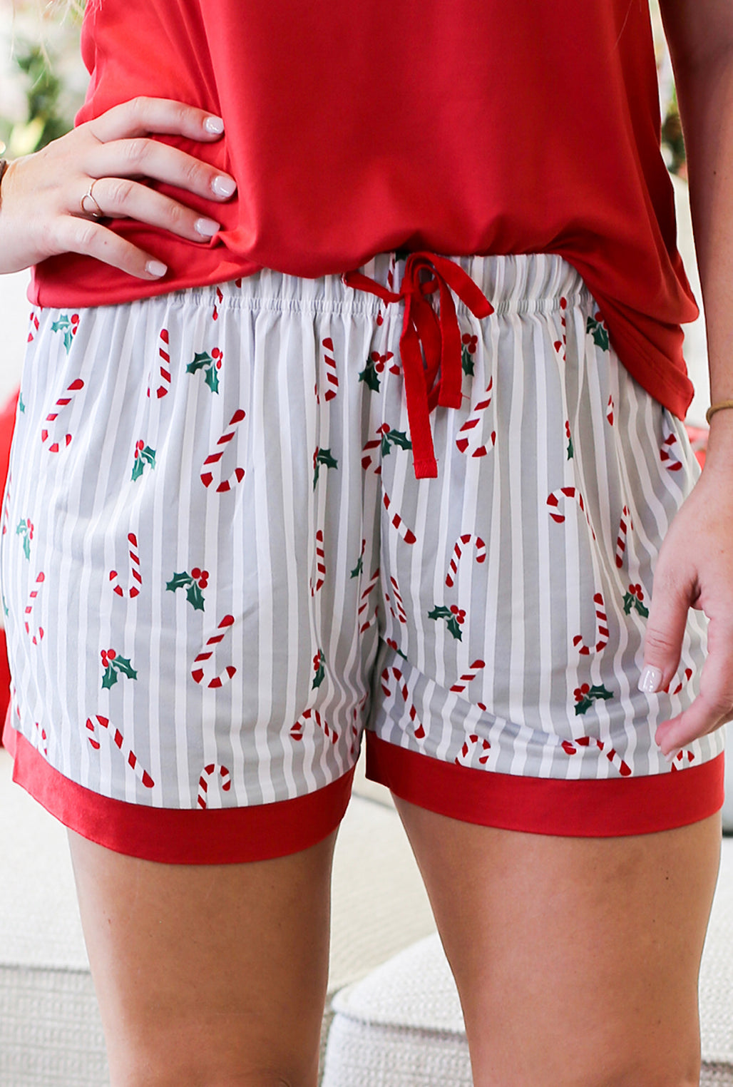 Holly Jolly Sleep Shorts - Bellamie Boutique