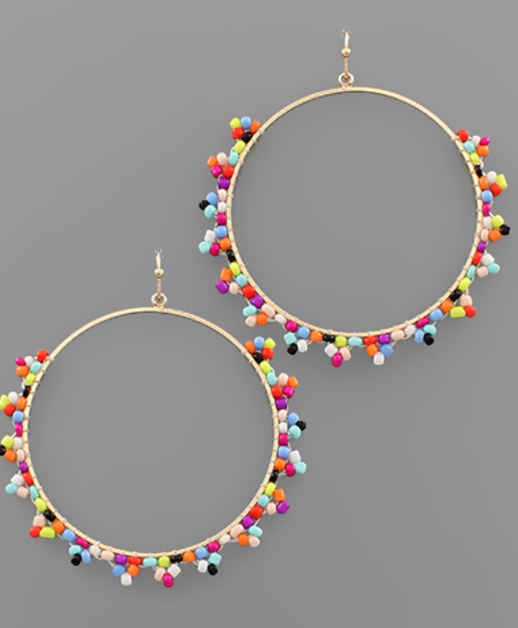 Multi Bead Earrings - Bellamie Boutique