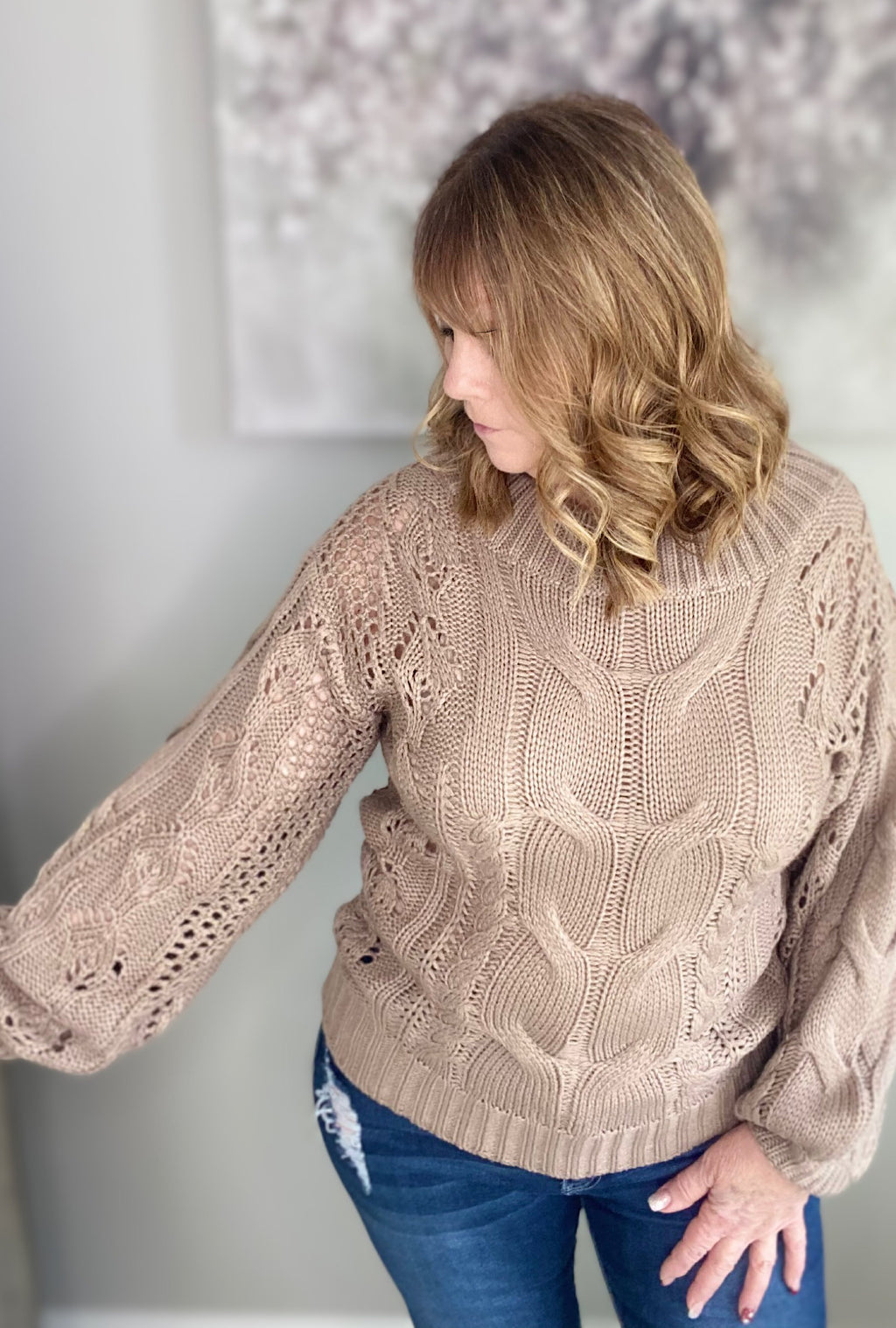 Monica Cable Sweater