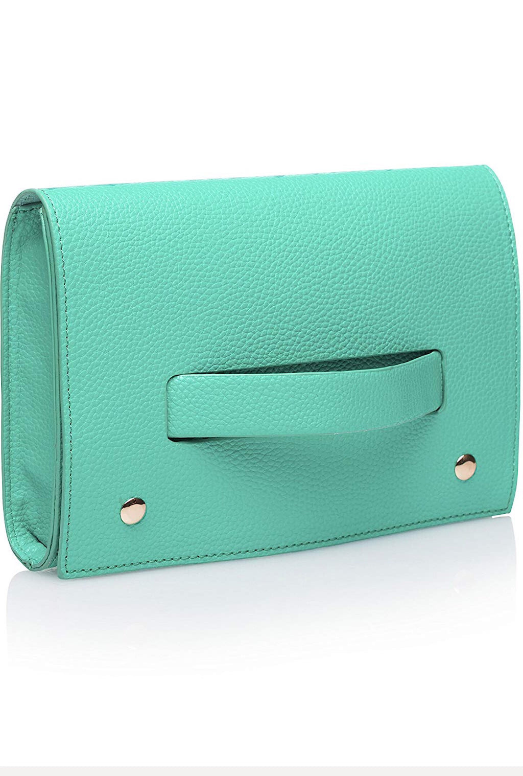 Mint Hand Clutch - Bellamie Boutique