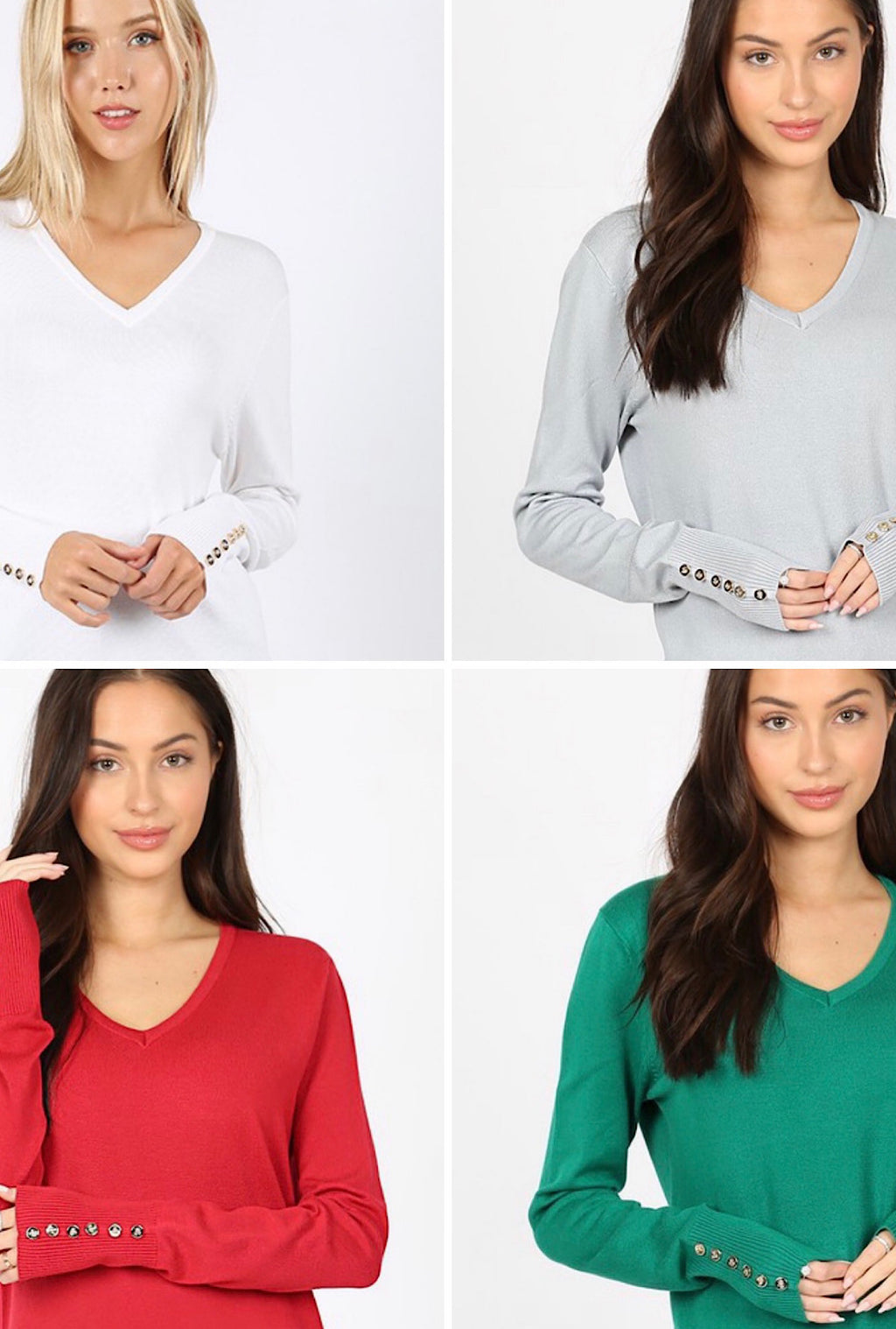 Button Sweater-Multiple Colors