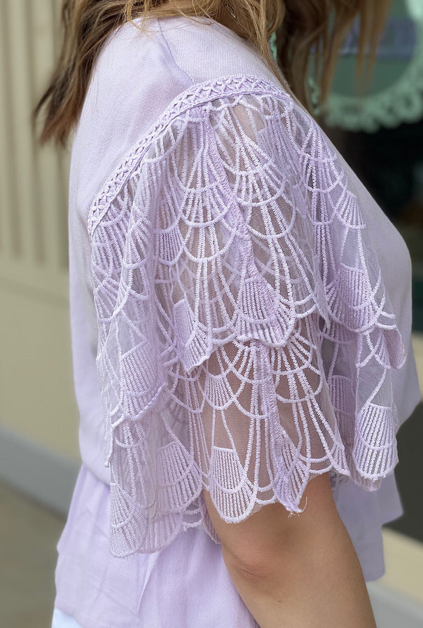 Lily Lace Sleeve Top