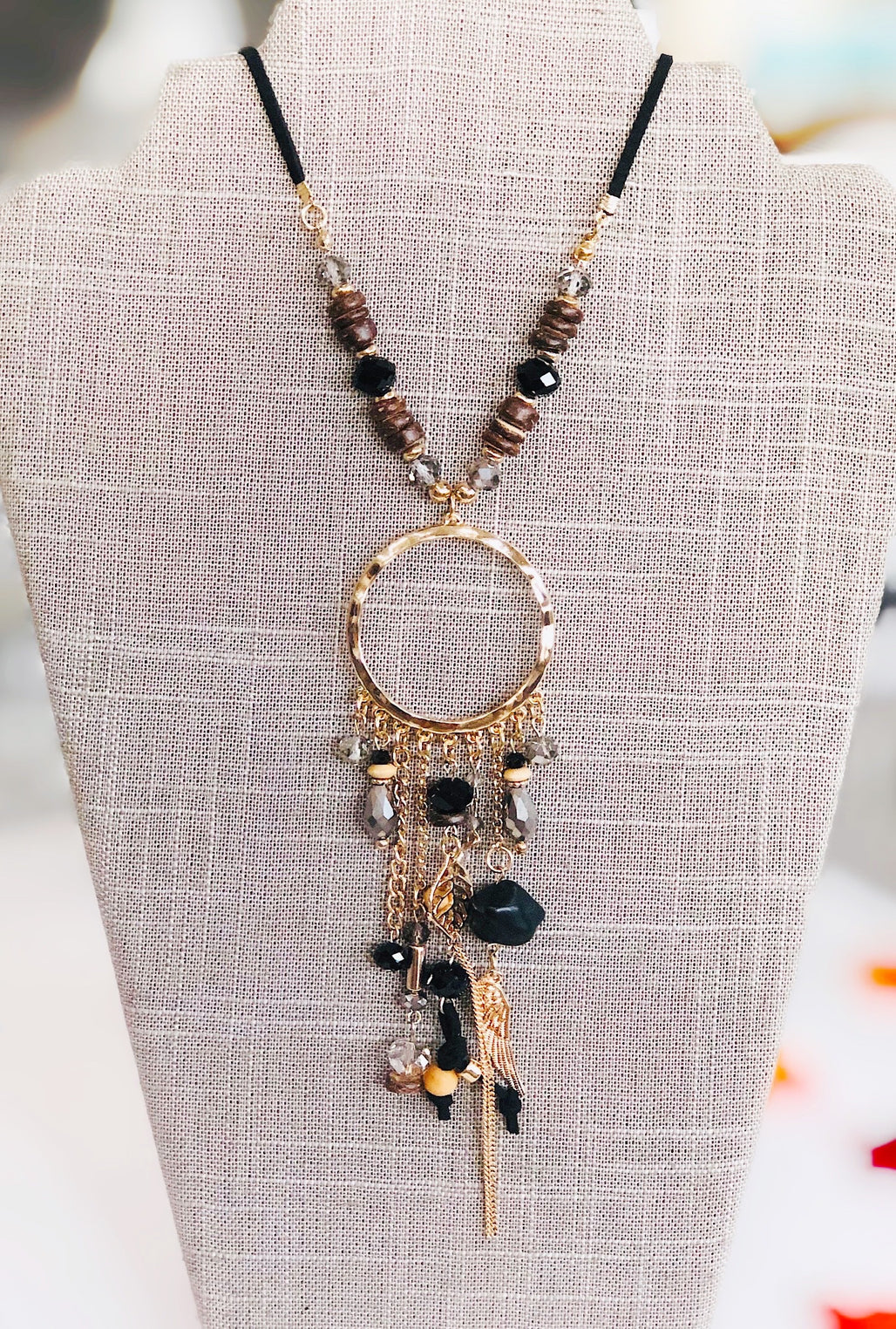Fall Nights Statement Necklace - Bellamie Boutique