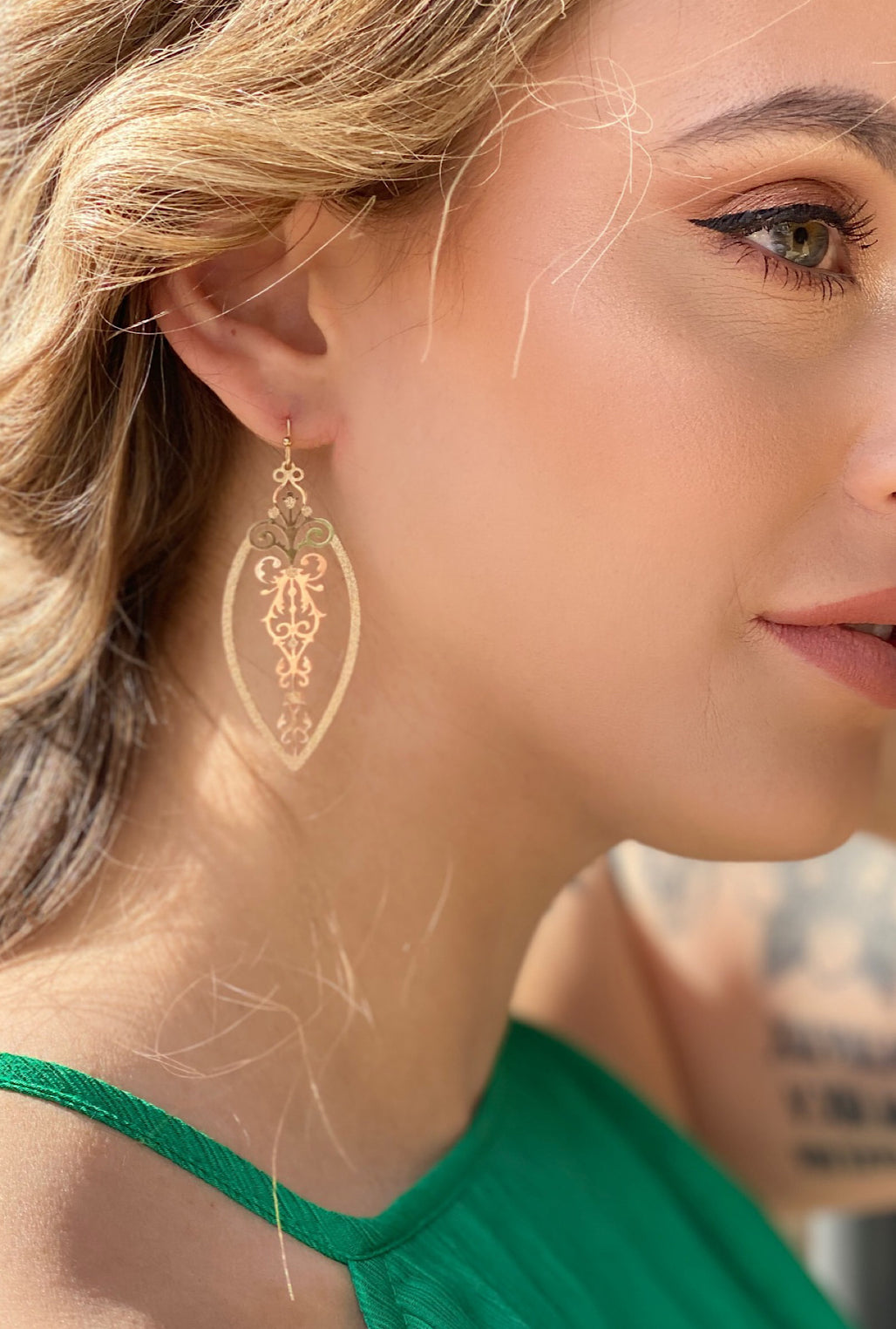 Gold Filigree Earrings - Bellamie Boutique