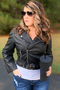 Sandy Faux Leather Jacket