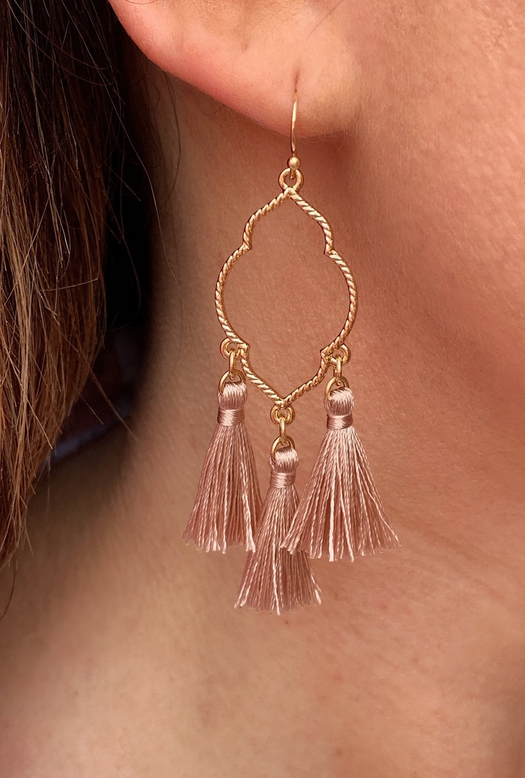 Rose Gold Tassel Earrings - Bellamie Boutique