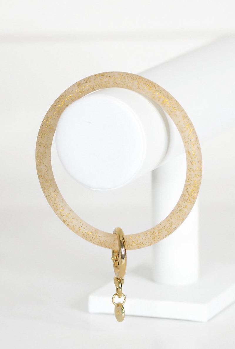 Glitter Gold Key Ring