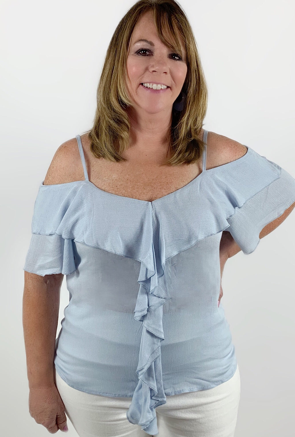 Bailey Blue Top - Bellamie Boutique
