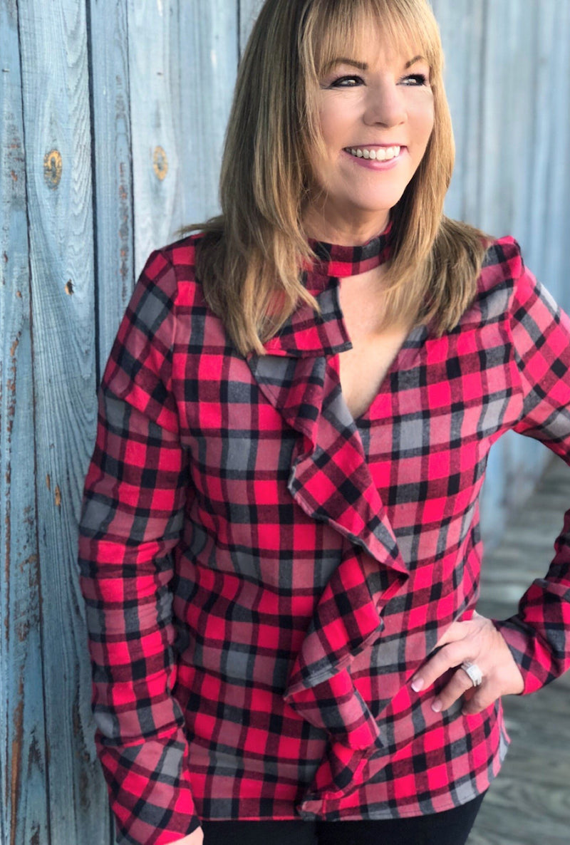 Bonfire Babe Plaid - Bellamie Boutique