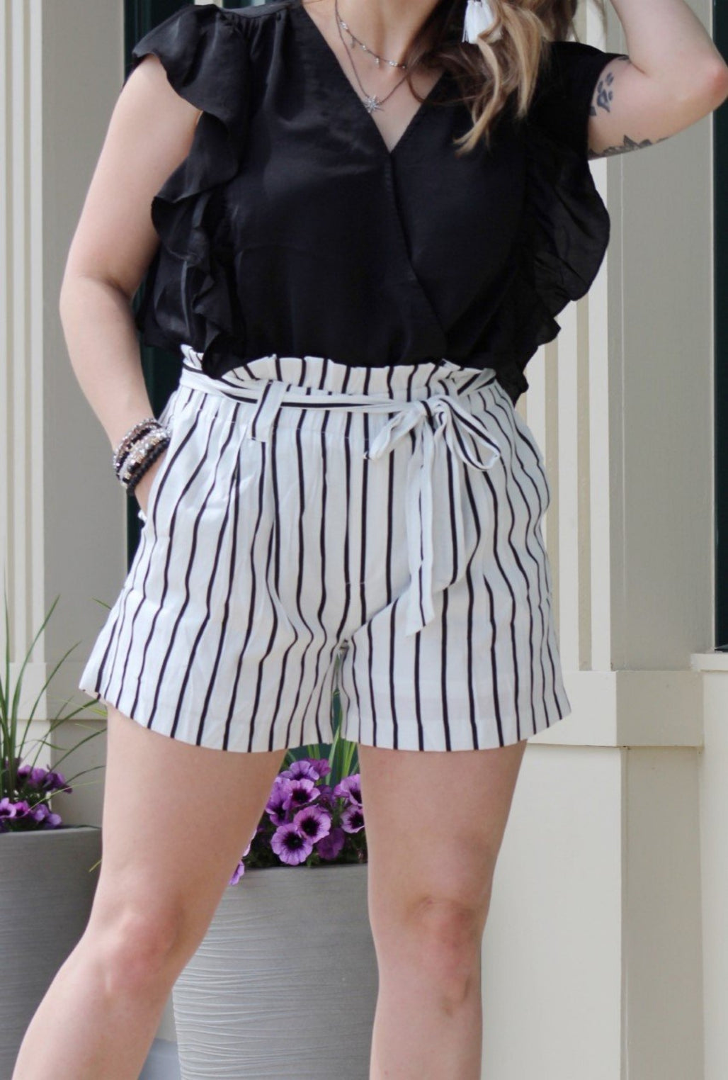 Whitney Striped Shorts