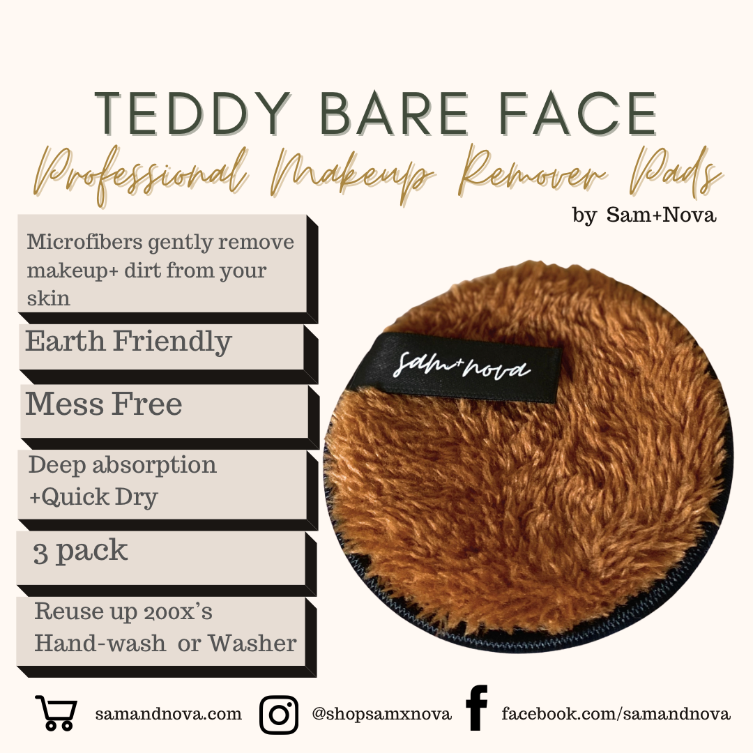 Teddy Bare Face | Professional Makeup Remover Pads
