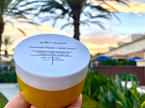 Turmeric Facial + Body Scrub