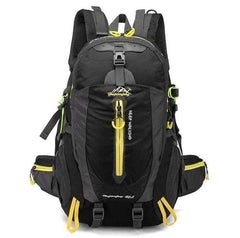 WATERPROOF HIKING BACKPACK 40L OUTDOOR TREKKING CAMPING BACKPACK-BACKPACKS-RUCKSACKS-BAGS-Black 40L-30 - 40L-Helm Zone