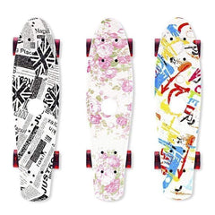 Outad Zp495 Flat Plate Skateboards for Kids and Adults-COMPLETE SKATEBOARD-SKATEBOARD-Helm Zone